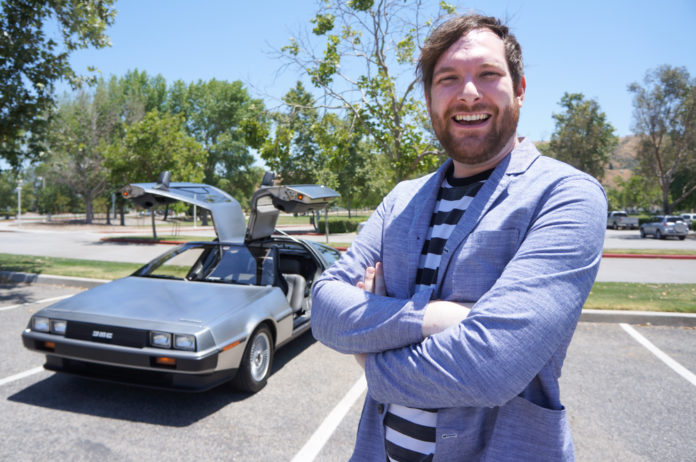 Spencer White poses in front of his 1982 DeLorean. Samie Gebers/Signal